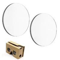стеклянные линзы 3d оптовых-Wholesale- 20pcs 25*45MM BiConvex Lens for Google Cardboard 3D VR Glasses Optical Glass Dollar price Interesting Gifts