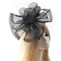 Wholesale Hairclip Feathers - Fashion Decorative Feather Fascinator Women Hair Clip Accessory Elegant Lady Cocktail Wedding Party Hat Hairclip Headwear Handmade Headwear