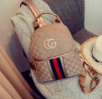 Wholesale Medium Canvas Bag - 2017 Europe Luxury brand women bag Famous designers handbags canvas backpack women's school bag 4 color backpacks brands
