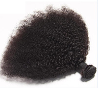 Wholesale virgin afro curly hair weave for sale - Group buy Malaysian Virgin Human Hair Afro Kinky Curly Unprocessed Remy Hair Weaves Double Wefts g Bundle bundle Can be Dyed Bleached Fedex