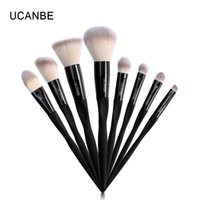 herramientas de marca de calidad al por mayor-Ucanbe Brand 8pcs Eye Face Lip Makeup Brushes Set High Quality Eyeshadow Foundation Blush Contour Powder Make Up Tool Brush Kit