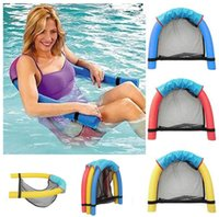 Wholesale Inflatable Toy Chair - noodle pool floating chair Swimming Pool Seats amazing floating bed chair kids adult water fun 10 p