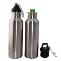 Wholesale Free Beer Bottles - Beer Bottle Armour Koozie Keeper Stainless Steel bottle Insulator with Bottle Opener DHL Free shipping OTH328