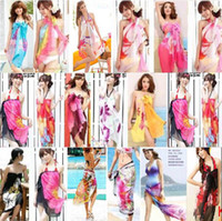Wholesale Plain Pretty - New Fashion Trendy Women's Long Print Scarf Wrap Ladies Shawl Girl Large Pretty Scarf Tole Beach Cover up Scarf Beauty Sarongs