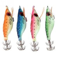Fishing Lures Aqueça de lulas fluorescentes 10CM Fluorescence Shrimp Lure Bait Perfect for Night Fishing Cor aleatória