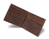 Wholesale dark brown clutch wallets for sale - Dark Brown High Quality Vintage Men Wallet Real Crazy Horse Leather Purse Cowhide Card Holder Pocket Clutch Bag