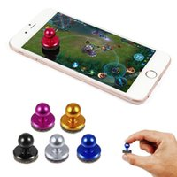 Wholesale Touch Pad Mobile Phones - Small Size Stick Game Joystick Joypad For iPhone for Pad Touch Screen Mobile phone Mini Rocker