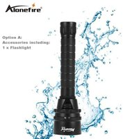 AloneFire DV34 Professional Diving Flashlight Torch 5x Dive XML L2 LED Underwater Diving linternas Waterproof Light Lamp