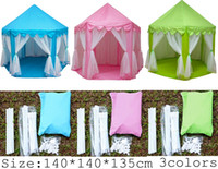 outdoor playhouse - INS Children Portable Toy Tents Princess Castle Play Game Tent Activity Fairy House Fun Indoor Outdoor Sport Playhouse Toy Kids Xmas Gifts