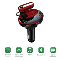 Wholesale Wireless Earphones For Radio - Wireless Bluetooth Headphones Receiver FM Transmitter Car Radio Adapter Headset Earphone earbuds Private Talking, Dual USB Car Charger