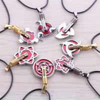 Wholesale Naruto Uzumaki Necklace - Fashion Anime Naruto Sharingan Pendant Necklaces Hatake Kakashi Uzumaki Naruto Cospaly Jewelry Necklaces & Pendants For Gift