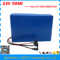 Wholesale 24v Battery Scooter - High capacity 24V 50AH e-scooter battery 24V 50AH Lithium battery 3.7V 5AH 26650 Cell 50A BMS with 5A Charger Free customs tax