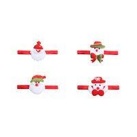 Wholesale Western Hair Headbands - Santa Claus Elastic Baby Headband Western Christmas Gift Kids Headwear Christmas Party Dress Hair Decoration
