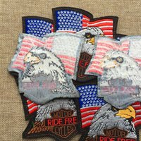 Wholesale Eagle Embroidered Patches - 2016 Free delivery eagle Badge embroidered Appliques DIY accessory Hat garment bag hot paste patch