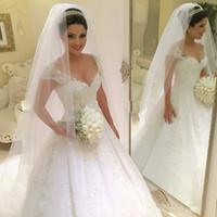Wholesale Wedding Gown China Online - 2017 Princess Plus Size Wedding Dresses 2016 Bride Gown Ivory Lace White Vestido De Noiva Vintage Casamento china-online-store