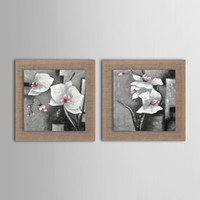Oil Painting paintings of abstract flowers - Oil Painting Modern Abstract Flower Set of Hand Painted Natural linen with Stretched Unramed