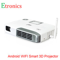 Wholesale Multimedia Networks - Wholesale-Android 4.4 Multimedia Mini LED Projector Smart Home Business Network HD projector without screen TV projector with Remote