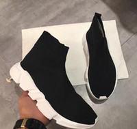 Wholesale Thanksgiving Socks - Fashion Brand Unisex Casual Shoes Flat Socks Boots Woman New Slip-on Elastic Cloth Speed Trainer Runner Man Shoes Sneakers High Quality36-44