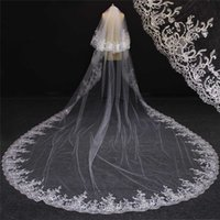 Wholesale image accessories - 2017 Real Images 2 Layers Bling Sequins Lace Metal Comb Gorgeous Cathedral Bridal Veil White Ivory Wedding Veil Accessories NV7096
