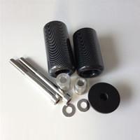 Wholesale Frame Slider Ninja - Kawasaki Ninja ZX6R 2005-2006 Frame Slider Crash Falling Protector Black Carbon