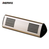 Wholesale Triangle Mini Speakers - REMAX M3 Metal Triangle Fashion Designed Stereo Portables Mini Wireless Bluetooth 4.0 Speakers With NFC Sound Eyes wholesale