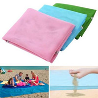 Wholesale Travel Picnic Blanket - 3 Colors Sand Free Mat Blanket Camping Mat Outdoor Picnic Foldable Mattress Camping Cushion Beach Mat 200*150cm CCA6387 50pcs