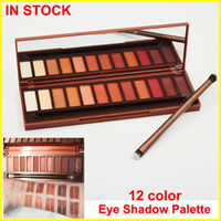 Wholesale High Shadow - New Brand Heat Palette eyeshadow Heat eyeshadow Palette +brush 12 color Eye Shadow Palette Eyeshadow High quality free shipping