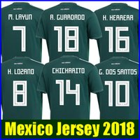 Wholesale Football Mexico - Thailand MEXICO SOCCER JERSEYS 2018 world cup CHICHARITO CHUCKY LOZANO DOS SANTOS HERRERA LAYUN Mexico football shirt camisetas de futbol