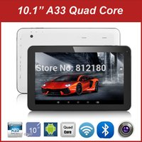 Wholesale Cheapest Tablet 16gb - Wholesale- 2016 Cheapest Tablet PC Android 4.4 Allwinner A33 Quad Core 10 inch Tablet 1GB RAM 8GB 16GB ROM Buetooth WiFi+Gifts