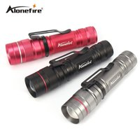 Wholesale mini self defense flashlight - AloneFire X170 LED Flashlight Q5 Zoomable Waterproof Flashlights Linternas LED Lampe Torche AA 14500 Mini LED Flashlight for Self Defense