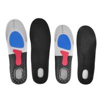 insertos de zapatos para correr al por mayor-Plantilla de gel Orthotic Sport Insert Shoe Pad Arch Support Cojín de talón Running New 2Pcs / Pair