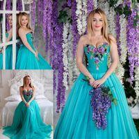 Vestido de fiesta ossira turquesa