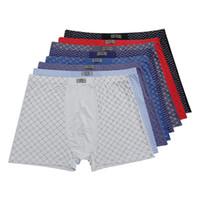 Wholesale Men 8xl - Men's 95%bamboo fiber underwear breathable mens boxers shorts men underwear fashion underpants plus size 8XL,11XL 5PCS LOT