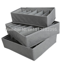 Wholesale 3 in Underwear Bras Socks Storage Organizer Box Bag Case Bamboo Charcoal E2shopping