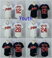 Wholesale Cool White Kids - 2017 Youth Cleveland Indians Baseball Jersey Cool Base 12 Francisco Lindor 28 Corey Kluber 24 Andrew Miller KIDS White Stitched Jerseys BOYS