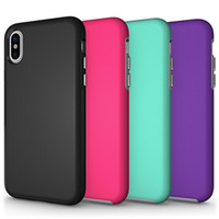 Wholesale Apple Rugged Protection - For Iphone X Case Rugged Anti-skid Armor Hard Heavy Duty TPU Protection Phone Case Cover for Iphone X