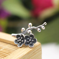 Wholesale Nice Deco - Solid Fine Silver Art Deco Flower Retro Sterling Silver 925 Fit Any Shape Size Nice Pendant Clip Clasps