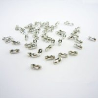 Wholesale Ball Chain Silver Connector - Gold Silver Ball Chain End Connector Caps Hooks for 1.5  2.4mm Bead Chain Link Clasp Jewelry Findings Parts Accessories PJ-17