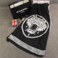 Wholesale Dual Scarf - Europe brand fashion the big tiger head all-match Pashmina dual-purpose women cotton twill in autumn and winter