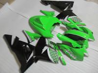 satılık zx kaplama toptan satış-Kawasaki Enjeksiyon kalıplama için sıcak satış kaportalar ZX 10R 2004 2005 karoser ZX 10R 04 05 siyah yeşil kaporta kiti ZX10R RR89