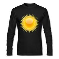 erkekler rahat kıyafetler toptan satış-İndirim Adam T-shirt Güneş Parlayan Baskı Erkek Erkek Gömlek 2017 Toptan Rahat Açık Havada Soyunma Giyim Gömlek
