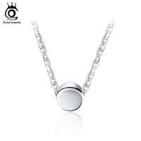 Wholesale Cm 925 - ORSA JEWELS 925 Sterling Silver Pendant Necklaces 44 cm for Women 2017 Genuine Silver Jewelry Gift SN04