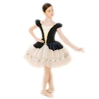 Wholesale Rosette Children Skirt - black ballet costume ballet dress for Children dance clothes for girls clothes children's autumn dance ballet skirt news female ballerina co