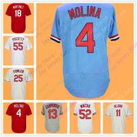 Wholesale Molina Baseball - Men Women Youth Jersey Yadier Molina Matt Carpenter Paul DeJong Dexter Fowler Kolten Wong Carlos Martínez Michael Wacha Tommy Pham