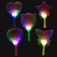 Wholesale Light Toy Fan - 2015 New Halloween Christmas Colorful Flash Fan Light Emitting Fans Pushan Advertising Gift LED Flash Light Fan Toys Party Fan