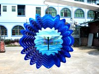 Wholesale Wind Spinners Stainless Steel - 3D Animated Dragonfly Stainless Steel Wind Spinner for Home Garden Epoxy Coating with Sparkles Powder Laser Cut Never Rust 6inch