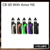 kit de coelho venda por atacado-Wismec CB-60 com Amor NS Kit 60 W Verificar Bunny 60 Mod Interno 2300 mah Bateria 2 ml Amor NS Tanque WS03 MTL 1.5 ohm Cabeça 100% Original