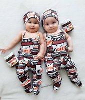 2017 Cartoon Nutella Cute Printed romper, Neugeborene Boy Girl Flasche Overall Einteilige Feet Covered Kostüm Kleidung