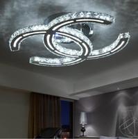 Wohnzimmer Kronleuchter Lampen Großhandel Crystal Moderne  LED Deckenleuchten Für Wohnzimmer Schlafzimmer Crystal Kronleuchter Lights