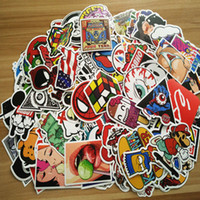 Wholesale Motorcycle Pull - Decorative Stickers 100 pieces of no repetitive explosion personalized car, motorcycle, pull case, cartoon graffiti sticker